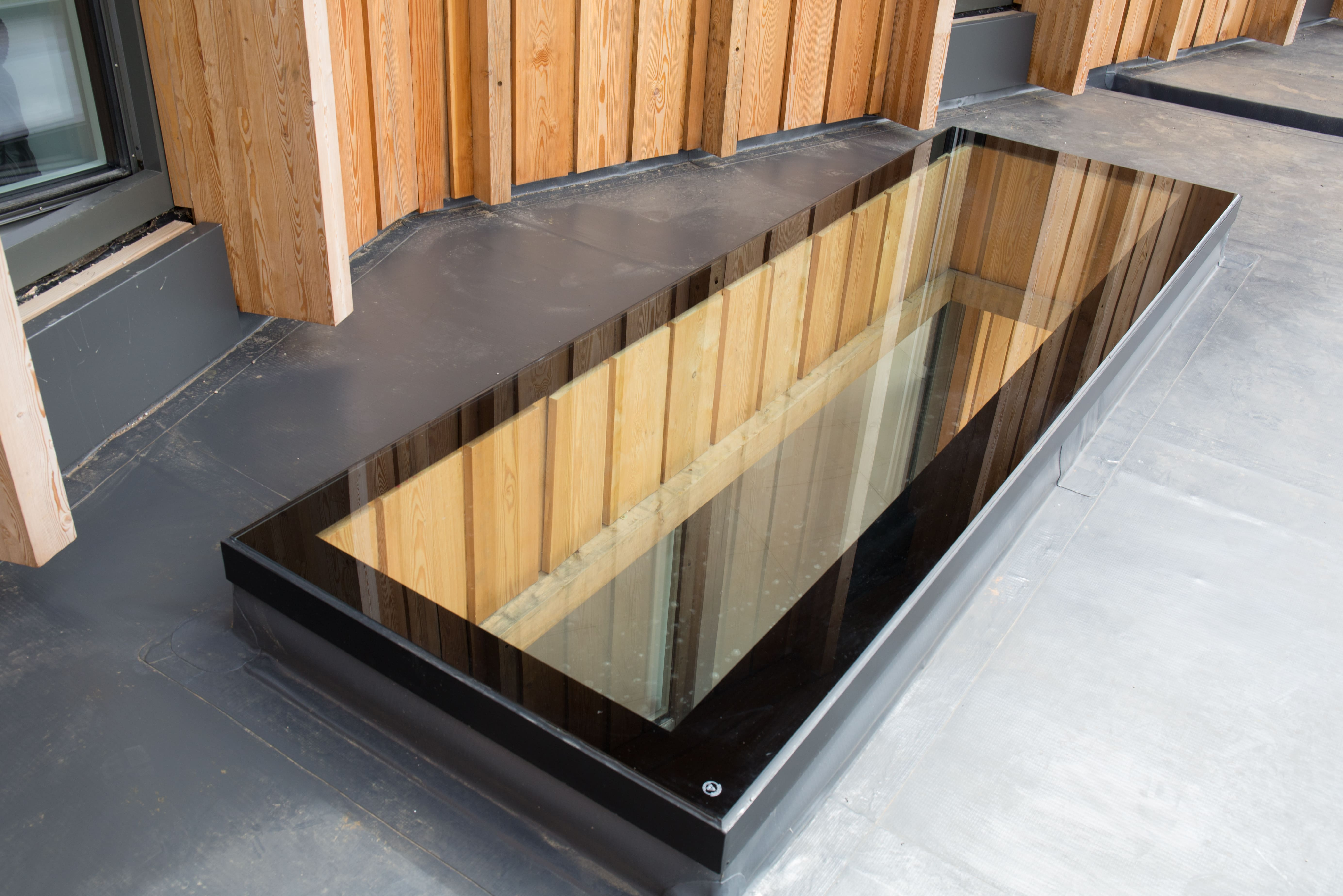 quality walk on floor glass installed in a property