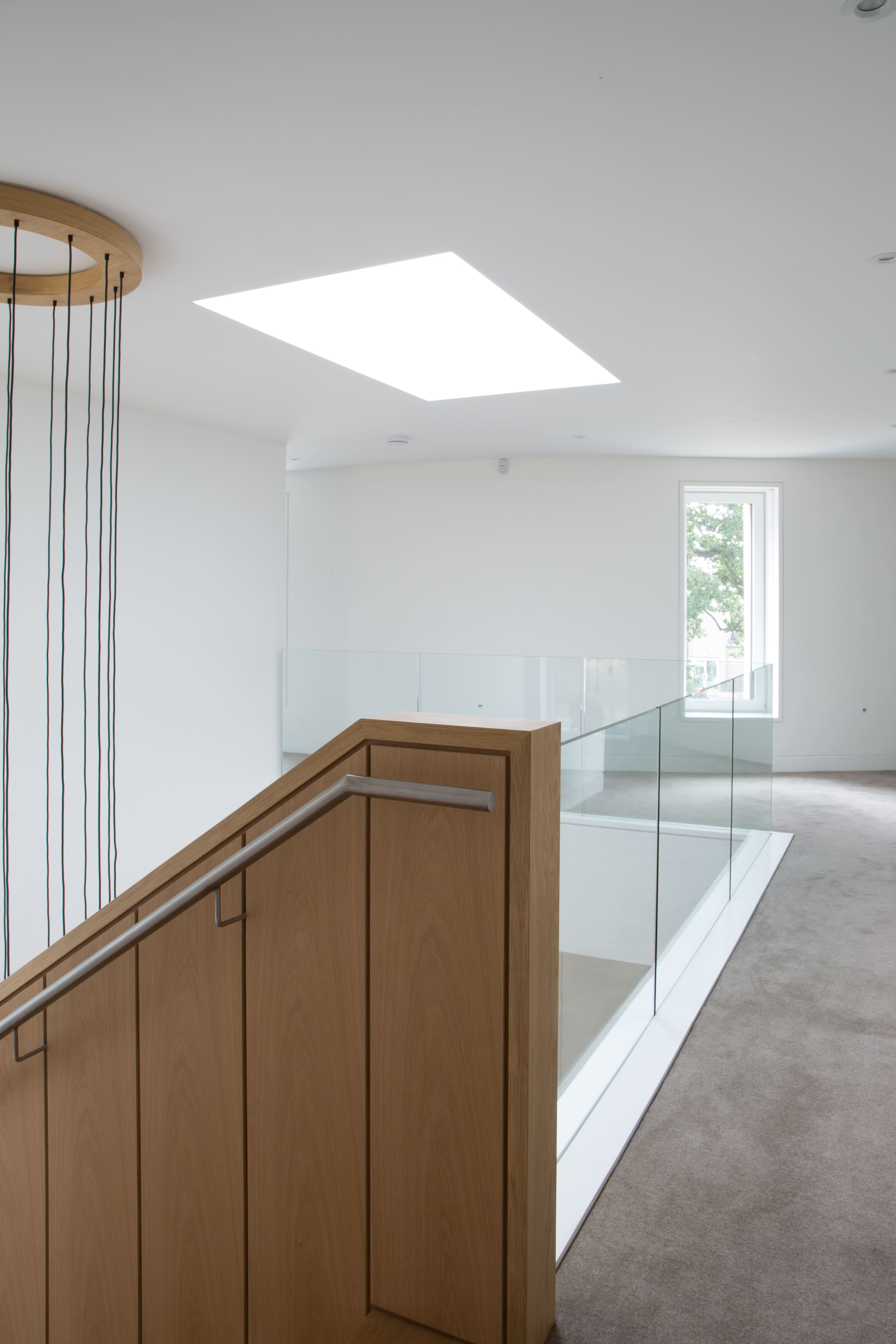 internal glass balustrade fixed in a residential property in bristol